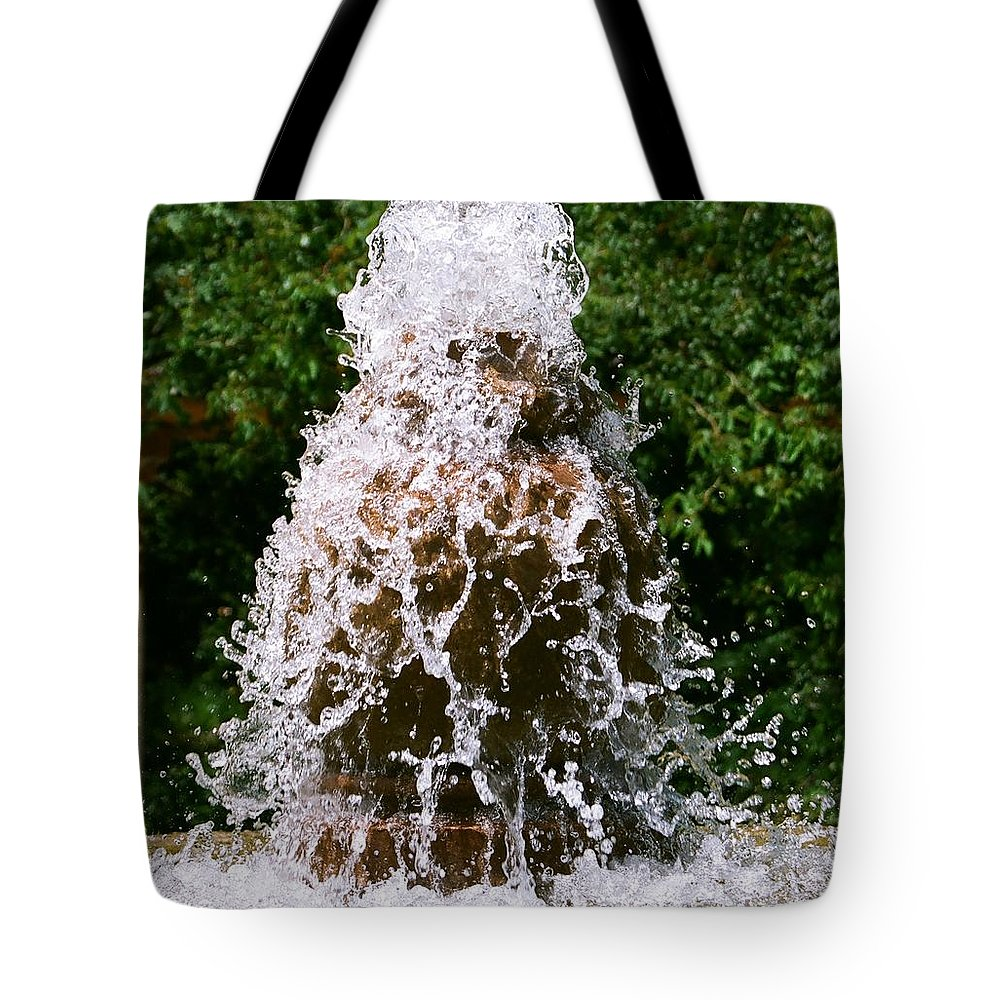 Water Tote Bag featuring the photograph Water Fountain by Dean Triolo