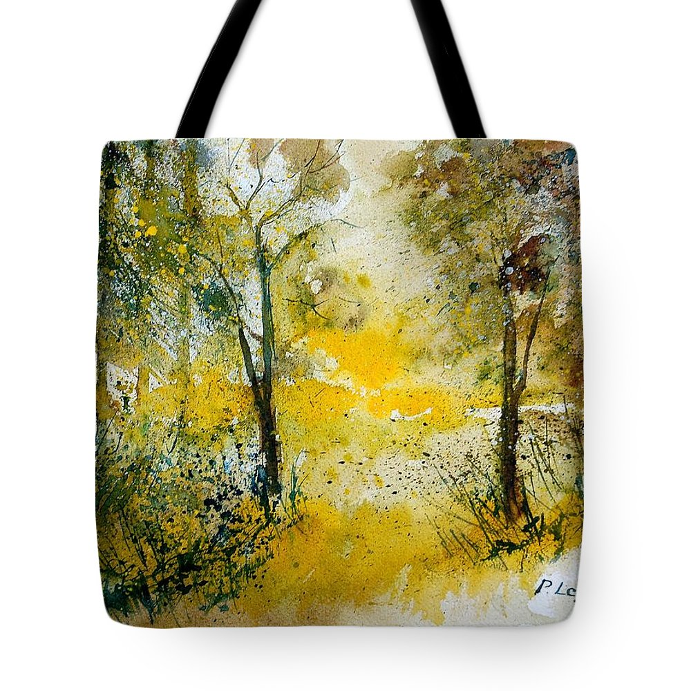 Tree Tote Bag featuring the painting Watercolor 210108 by Pol Ledent