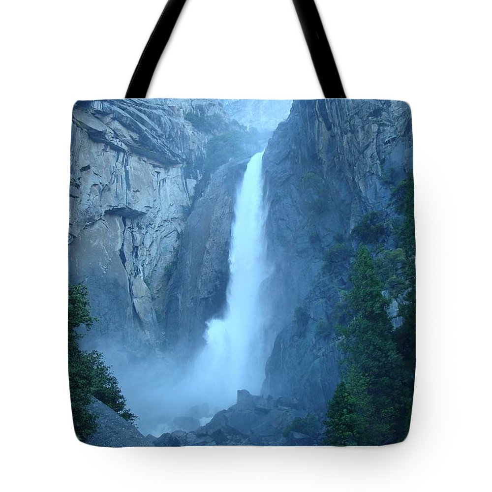 Water Tote Bag featuring the photograph Waterfall In The Mountains by FL collection