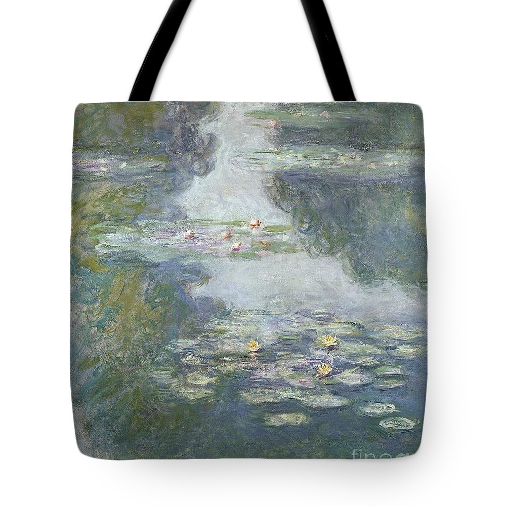 Pads Tote Bag featuring the painting Waterlilies by Claude Monet