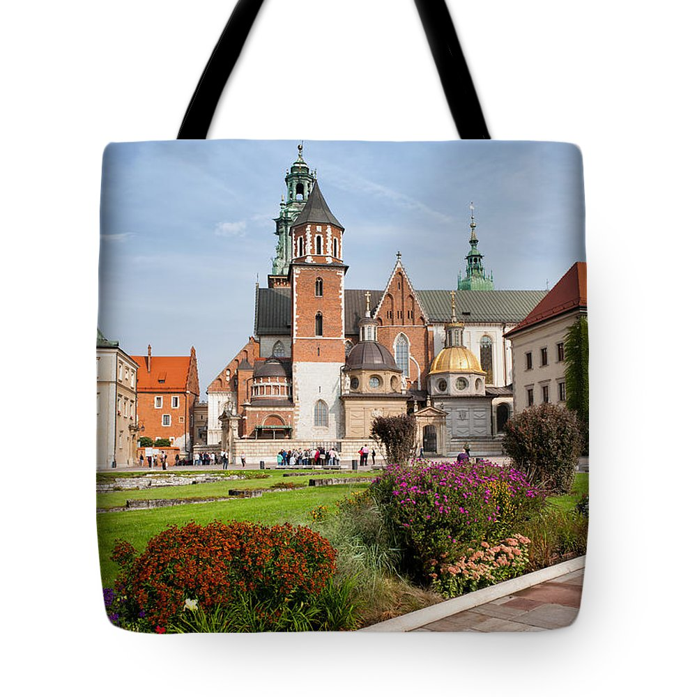 Krakow Tote Bag featuring the photograph Wawel Cathedral In Krakow by Artur Bogacki
