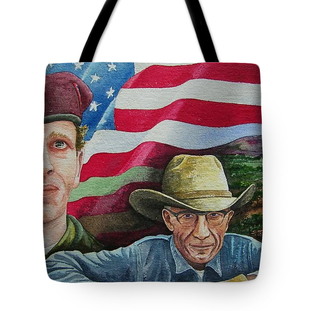 Soldier Tote Bag featuring the painting We Hold These Truths by Gale Cochran-Smith