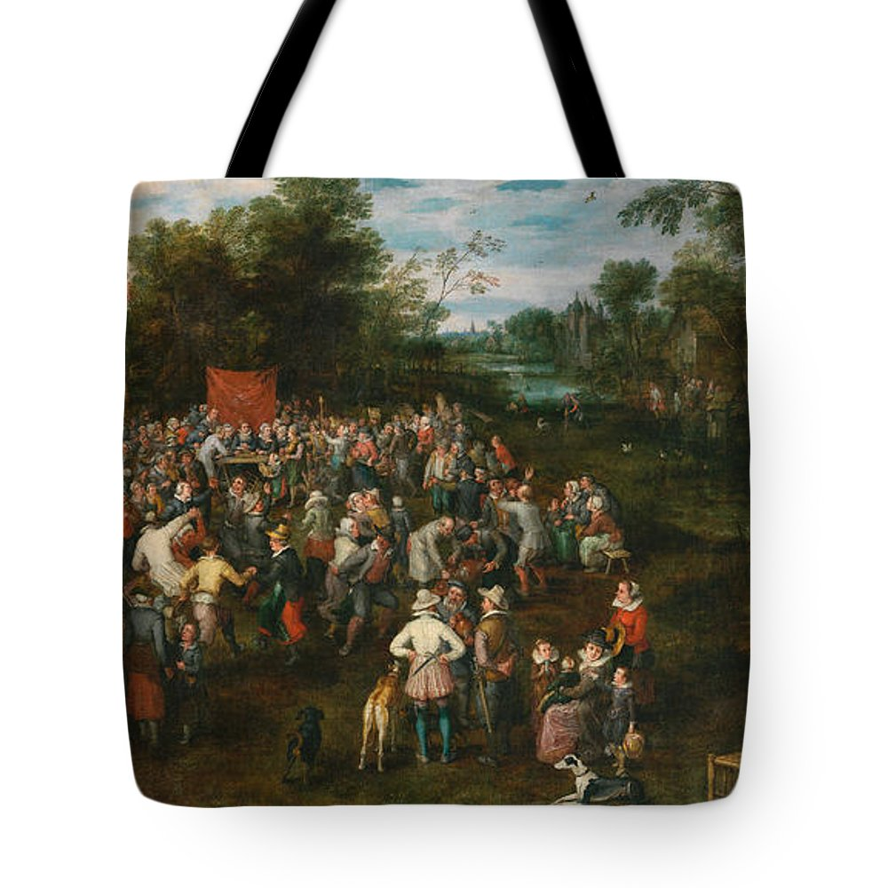 Arts Tote Bag featuring the painting Wedding Banquet by Jan Brueghel the Elder