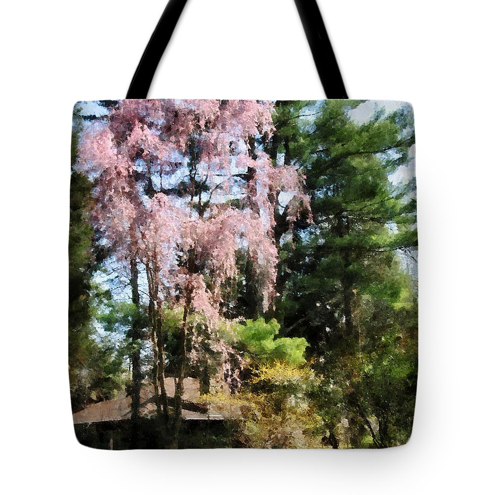 Spring Tote Bag featuring the photograph Weeping Cherry by Susan Savad