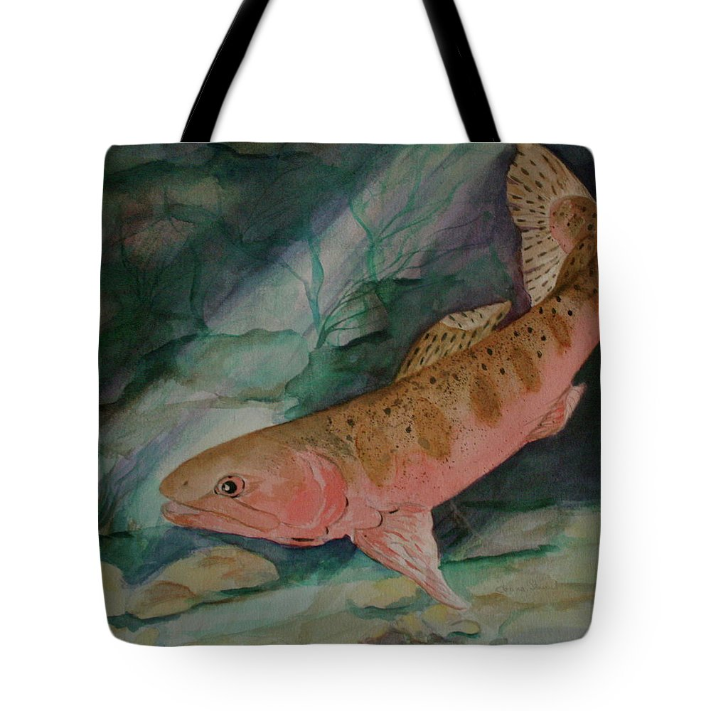 Canvas Prints Tote Bag featuring the painting Where Is She by Donna Steward