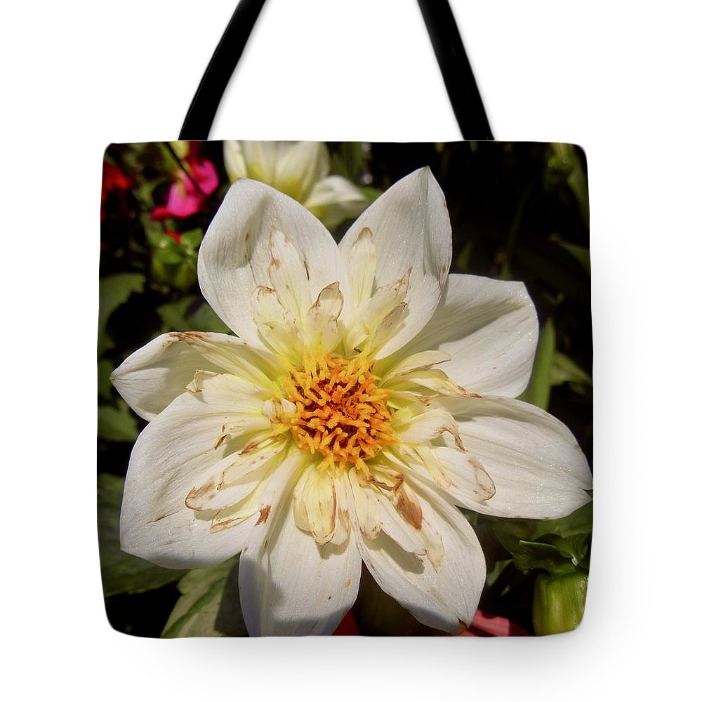 Flower Tote Bag featuring the photograph White Flower by Stephanie Moore
