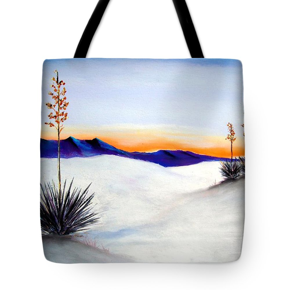 White Sands Tote Bag featuring the painting White Sands by Melinda Etzold