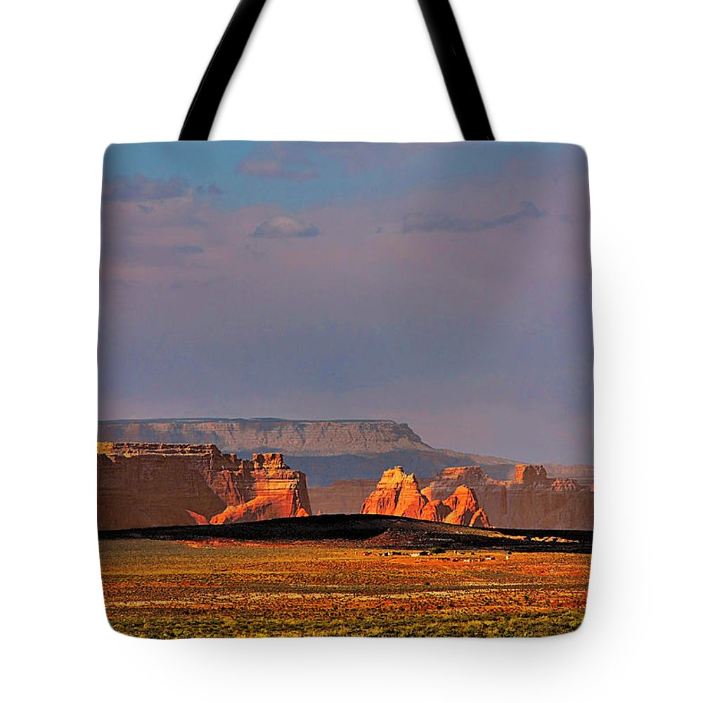 Page Tote Bag featuring the photograph Wide-open Spaces - Page Arizona by Christine Till