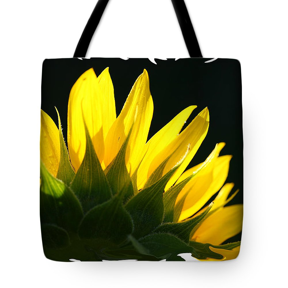 Sunflower Yellow Plant Green Photograph Phogotraphy Digital Art Tote Bag featuring the photograph Wild Sunflower by Shari Jardina