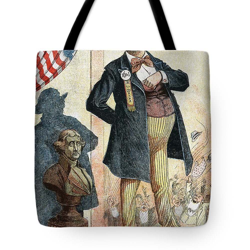 1899 Tote Bag featuring the photograph William Jennings Bryan by Granger
