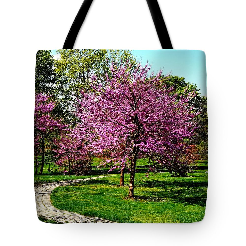 Path Tote Bag featuring the photograph Winding Path by Ivana Kovacic
