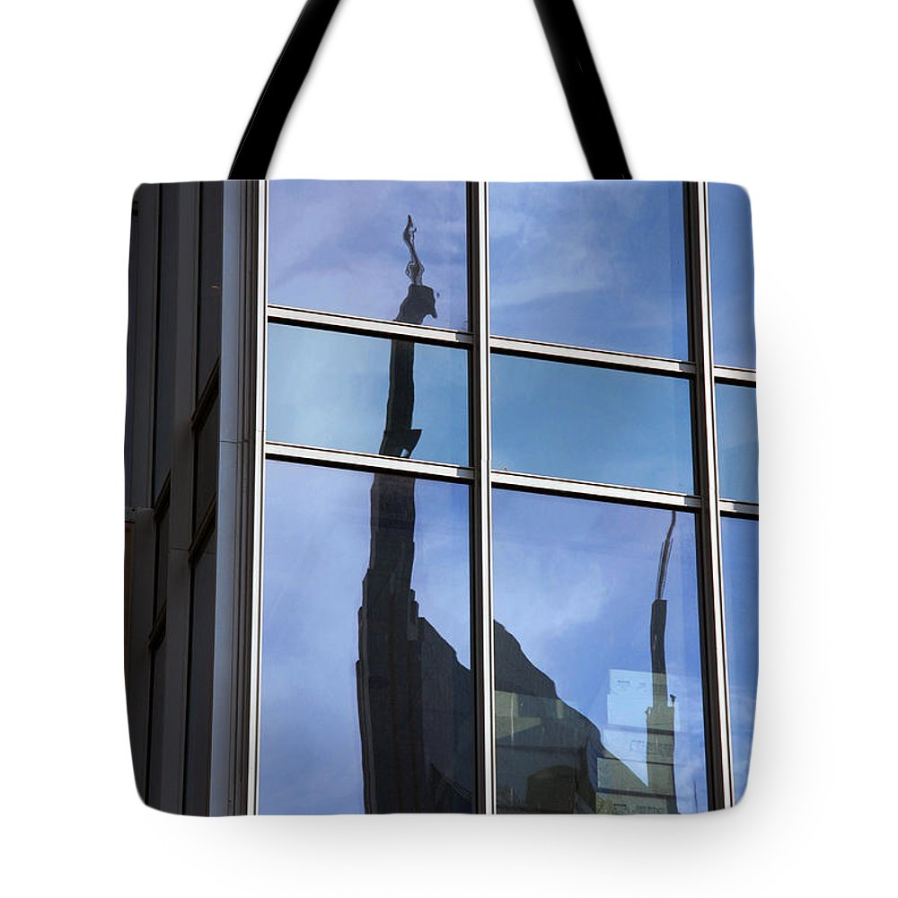Nashville Tote Bag featuring the photograph Window Reflections by Susanne Van Hulst