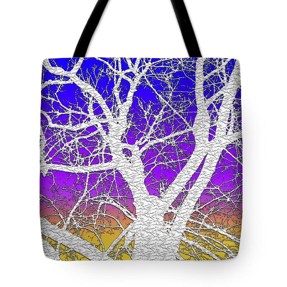 Winter Tote Bag featuring the digital art Winter Dusk by Stephen Younts