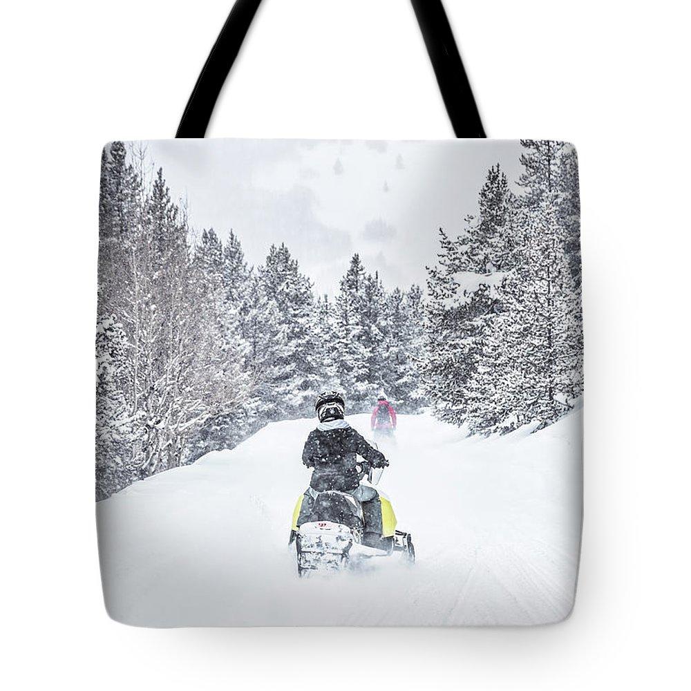 Kremsdorf Tote Bag featuring the photograph Winter's Way 1 by Evelina Kremsdorf