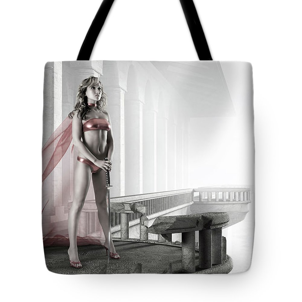 Woman Tote Bag featuring the photograph Woman Warrior by Oleksiy Maksymenko