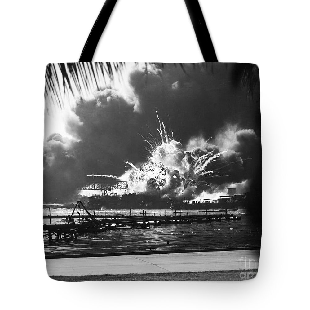1941 Tote Bag featuring the photograph World War II: Pearl Harbor by Granger