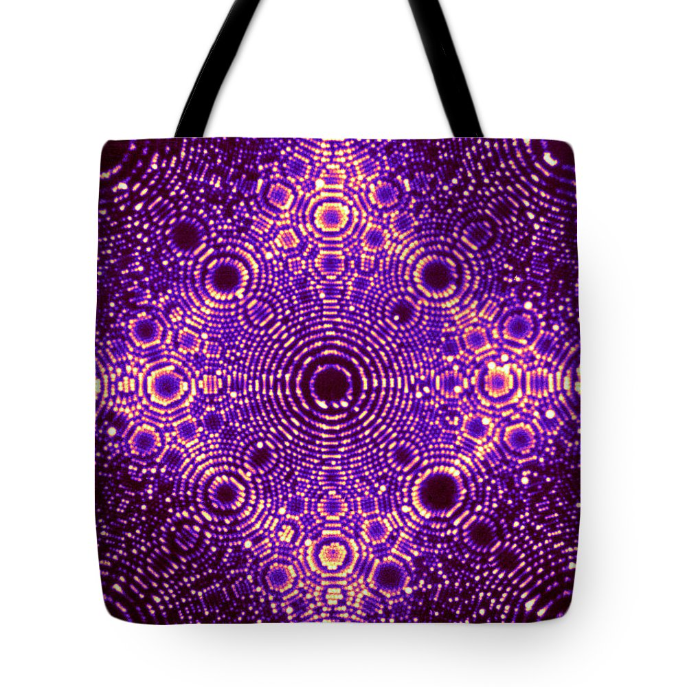 Diffraction Tote Bag featuring the photograph X-ray Diffraction Of Iridium 1 by Omikron