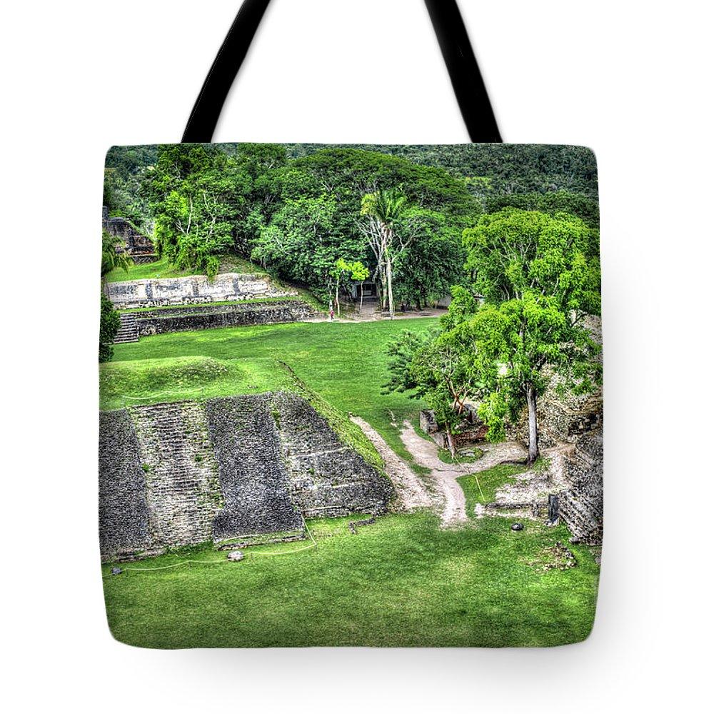 Xunantunich Tote Bag featuring the photograph Xunantunich, Ancient Maya, Archaeological Site by David Zanzinger