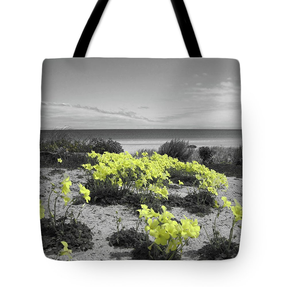 Flowers Tote Bag featuring the photograph Yellow by Douglas Barnard