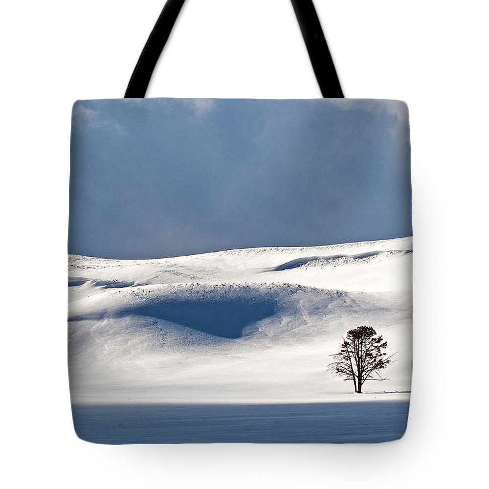 Yellowstone Winter Tote Bag featuring the photograph Yellowstone Winter by Doug Davidson
