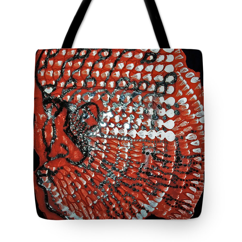 Jesus Christ Tote Bag featuring the ceramic art Yesu Cristu by Gloria Ssali