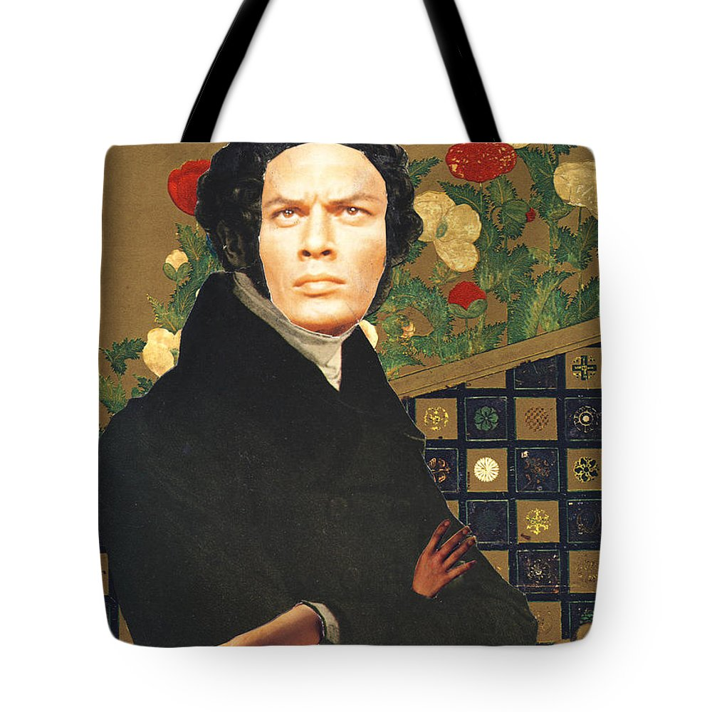 Collage Tote Bag featuring the digital art Yul Who by John Vincent Palozzi