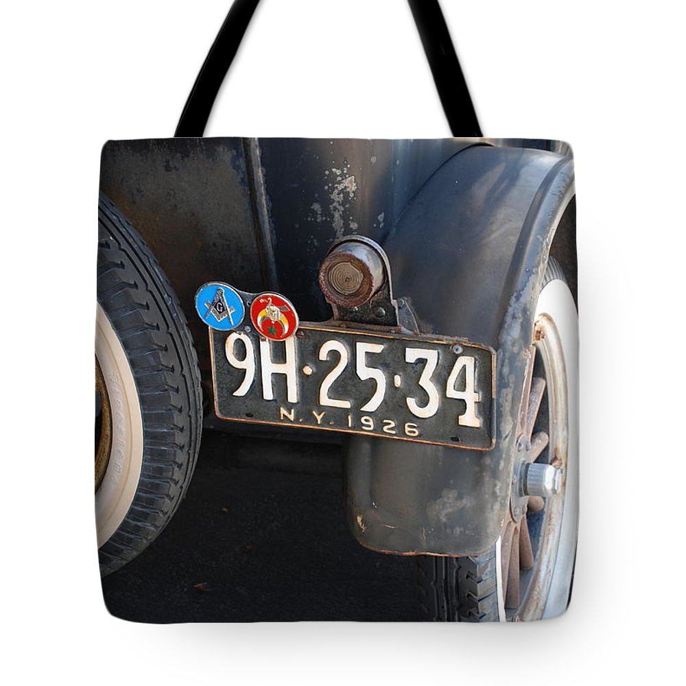 Numbers Tote Bag featuring the photograph 1926 Model T Ford by Rob Hans