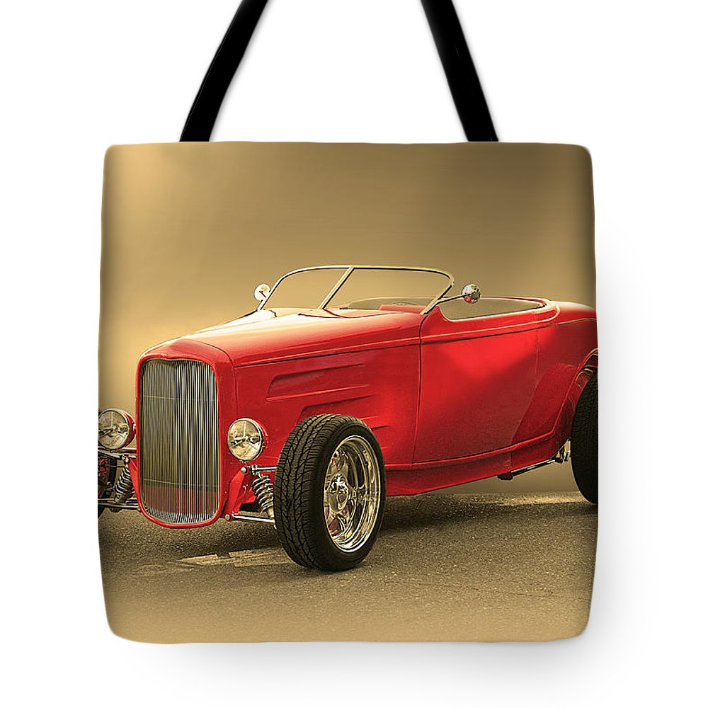 Auto Tote Bag featuring the photograph 1932 Ford Hiboy Roadster by Dave Koontz