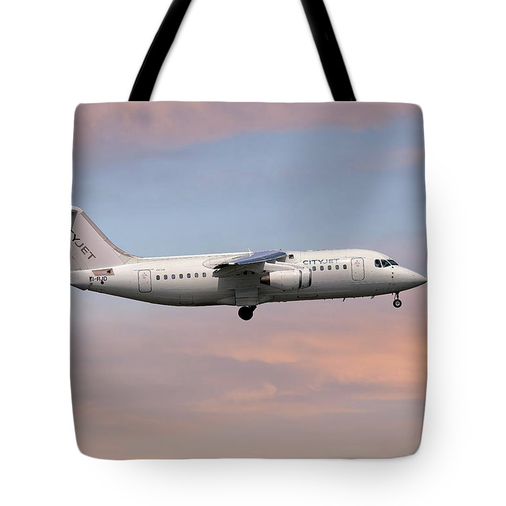 Cityjet Tote Bag featuring the photograph Cityjet Avro Rj85 by Smart Aviation