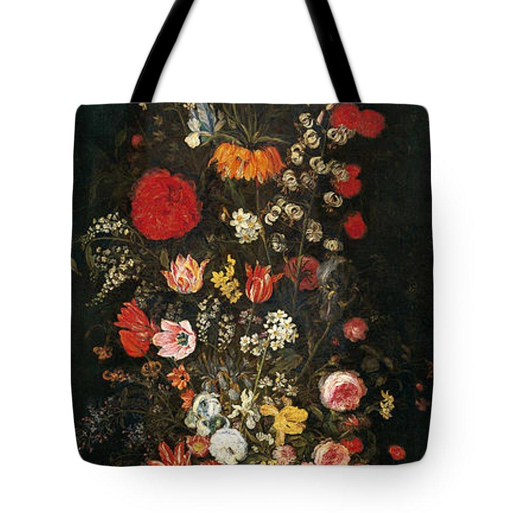Baroque Tote Bag featuring the painting Flower Vase by Jan Brueghel the Elder