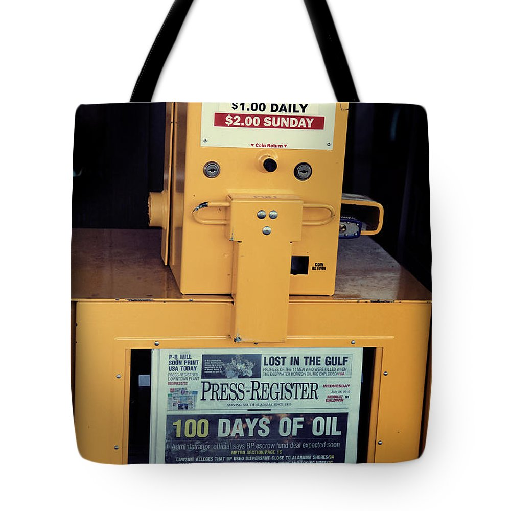 Oil Tote Bag featuring the photograph 100 Days Of Oil by Toni Hopper