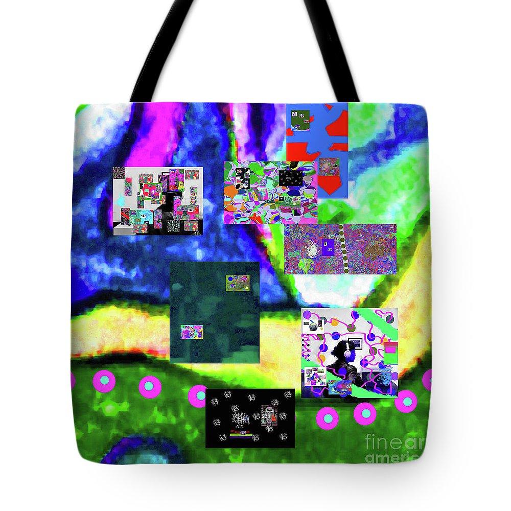 Walter Paul Bebirian Tote Bag featuring the digital art 11-11-2015abcdefghijklmnopqrtuvwxyzabcdef by Walter Paul Bebirian