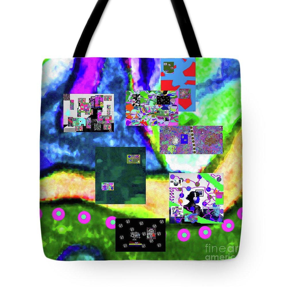 Walter Paul Bebirian Tote Bag featuring the digital art 11-11-2015abcdefghijklmnopqrtuvwxyzabcdefg by Walter Paul Bebirian