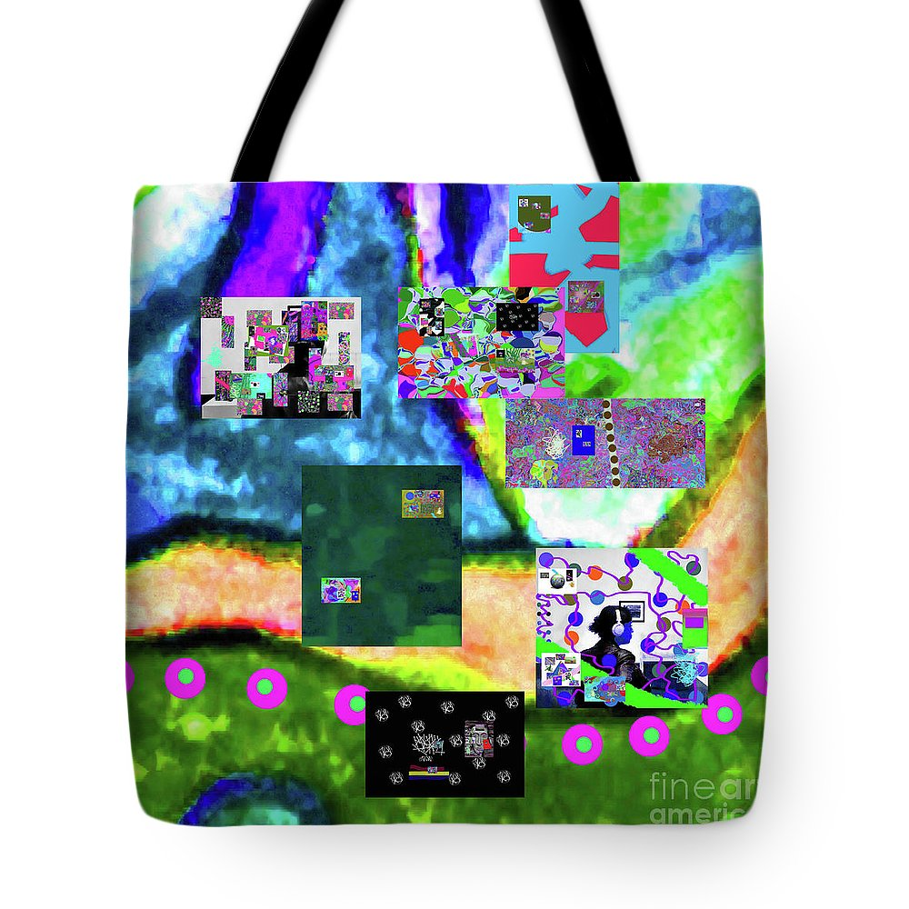 Walter Paul Bebirian Tote Bag featuring the digital art 11-11-2015abcdefghijklmnopqrtuvwxyzabcdefgh by Walter Paul Bebirian