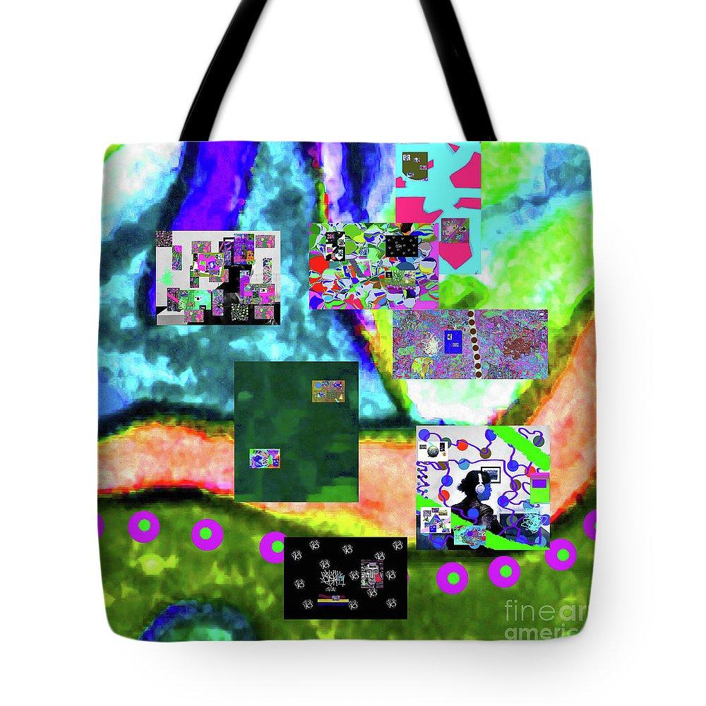 Walter Paul Bebirian Tote Bag featuring the digital art 11-11-2015abcdefghijklmnopqrtuvwxyzabcdefghi by Walter Paul Bebirian