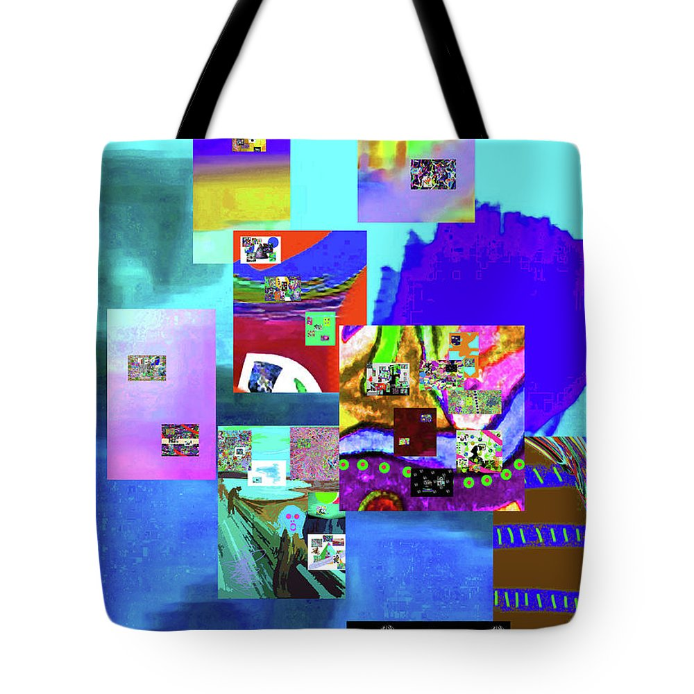 Walter Paul Bebirian Tote Bag featuring the digital art 11-11-2015b by Walter Paul Bebirian