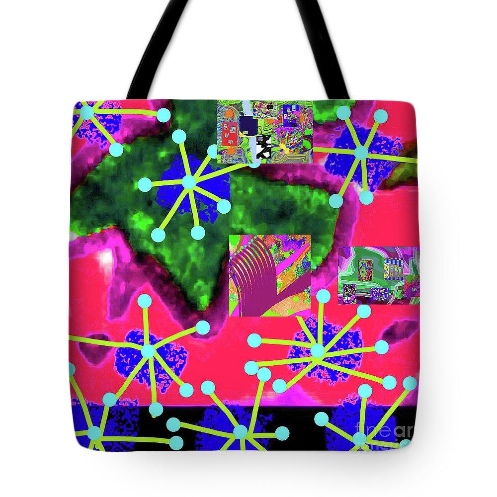 Walter Paul Bebirian Tote Bag featuring the digital art 11-11-2015d by Walter Paul Bebirian