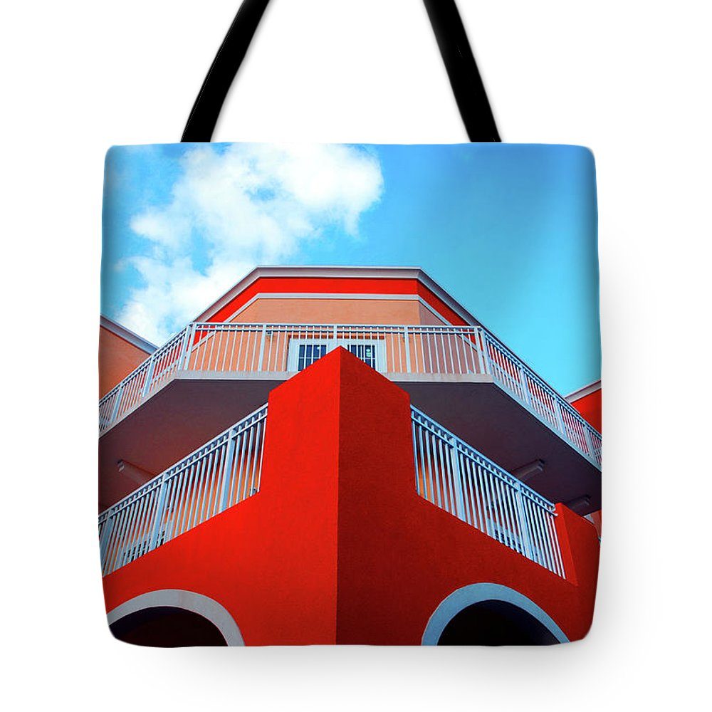 Building Tote Bag featuring the photograph 11- Deco Sky by Joseph Keane