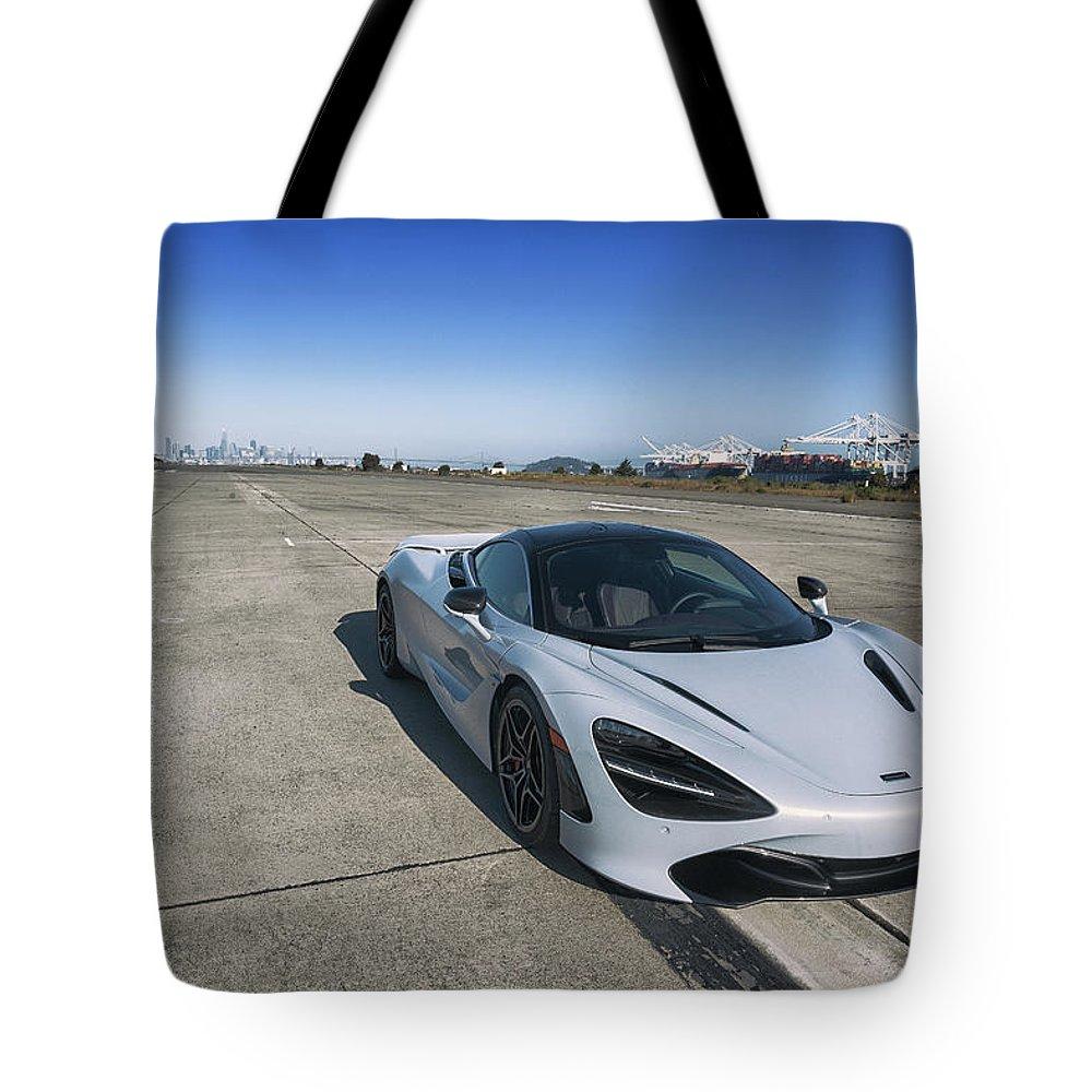 Mclaren Tote Bag featuring the photograph #mclaren #720s #print by ItzKirb Photography
