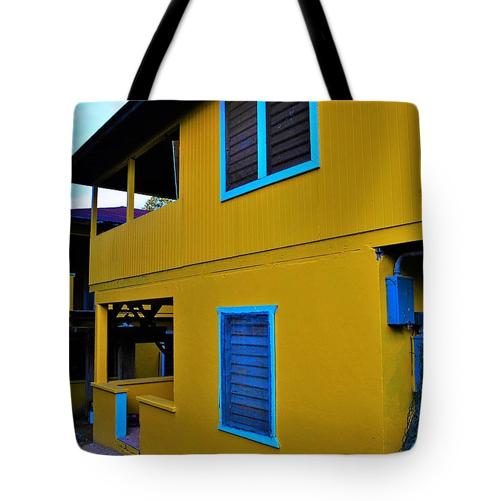 City Tote Bag featuring the photograph Roatan/house by Gianni Bussu