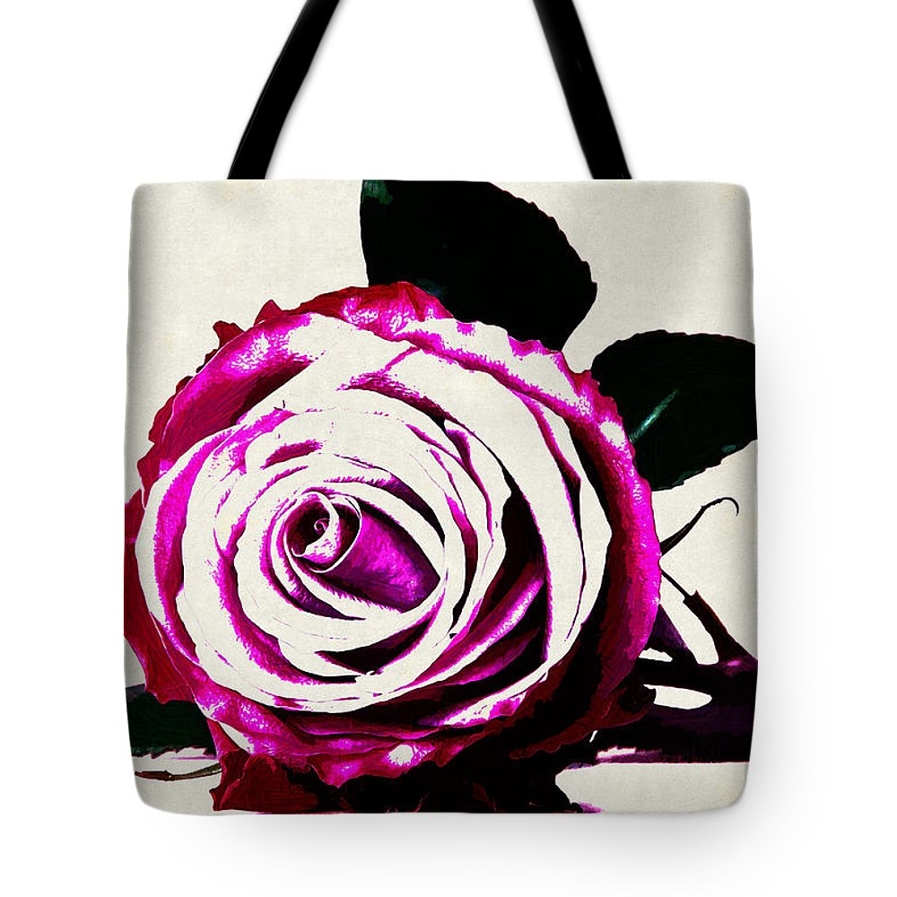 Rose Tote Bag featuring the digital art Rose by Lora Battle