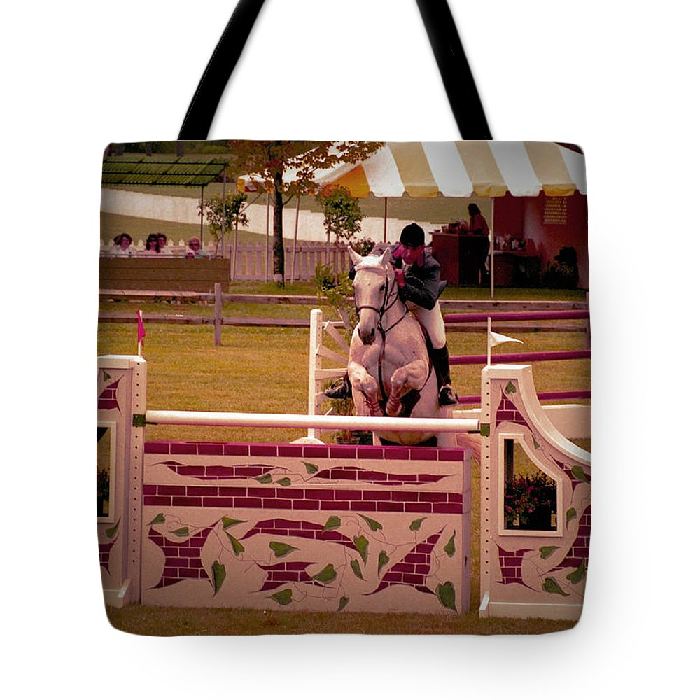 Horse Tote Bag featuring the photograph 111708-4a by Mike Davis