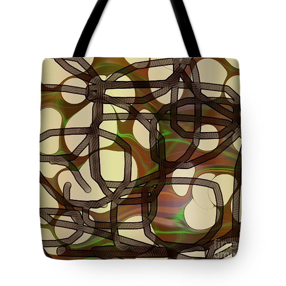 Abstract Art Tote Bag featuring the digital art 1197exp3 by Ron Bissett