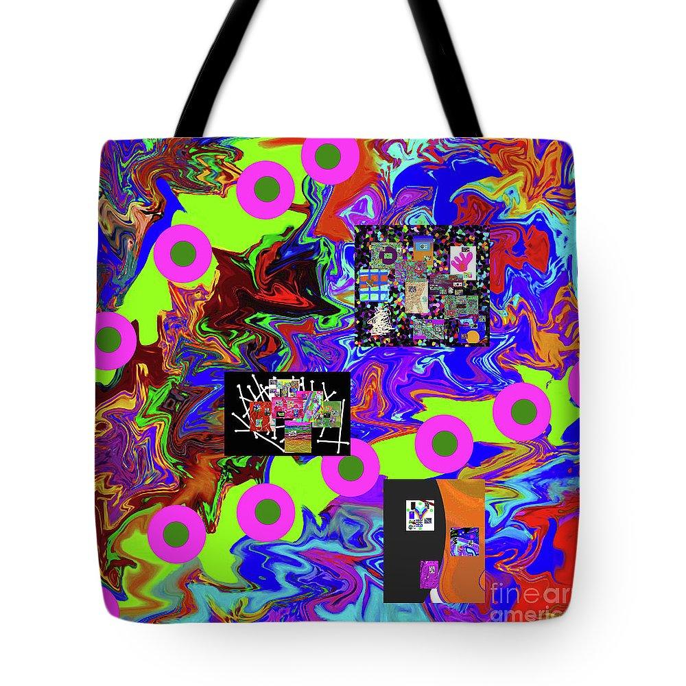 Walter Paul Bebirian Tote Bag featuring the digital art 12-30-2015d by Walter Paul Bebirian