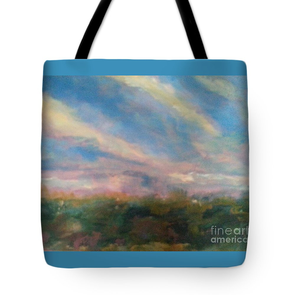 Landscape Tote Bag featuring the painting 12 Brushstroke Beauty by Patty Mowatt