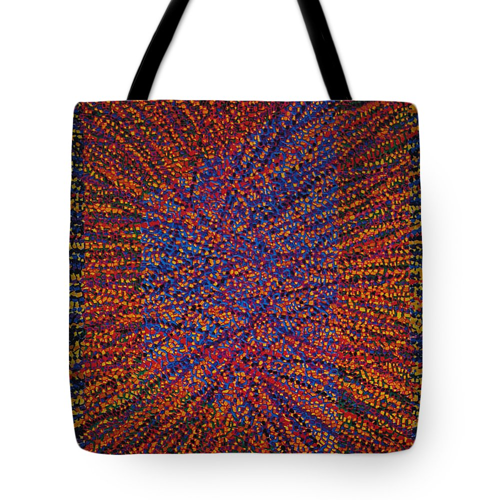 Inspirational Tote Bag featuring the painting Mobius Band by Kyung Hee Hogg