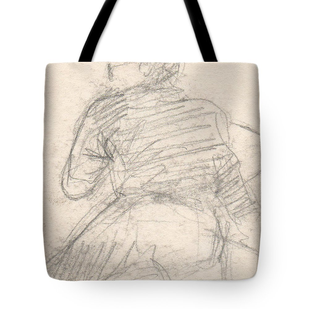 Small Tote Bag featuring the drawing Untitled by T Ezell