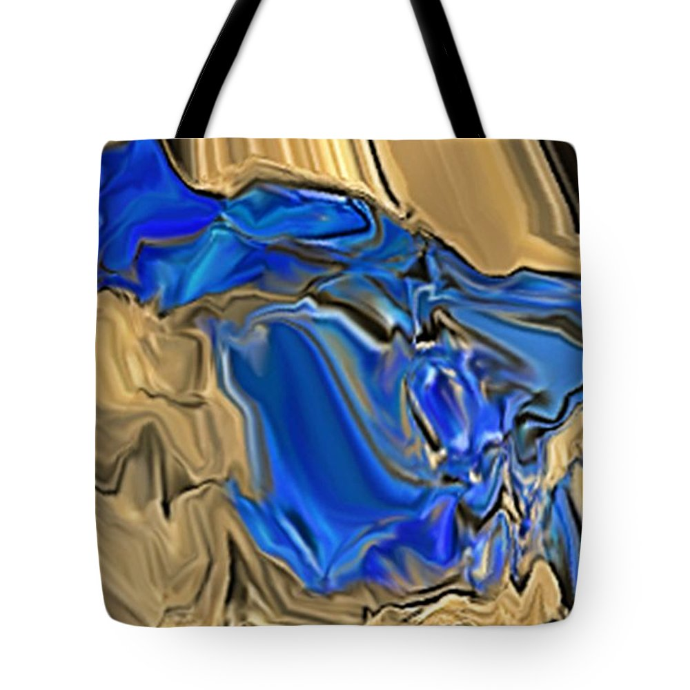 Abstract Tote Bag featuring the digital art 1297exp6 by Ron Bissett