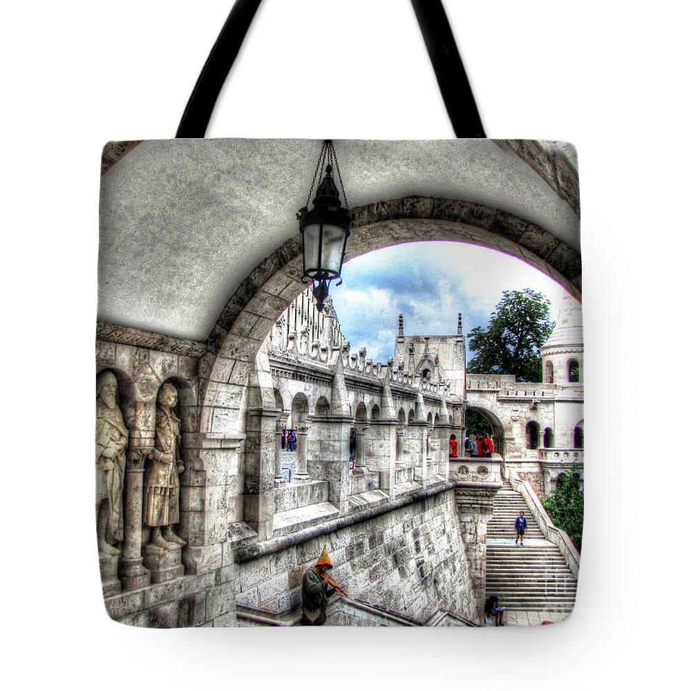 Budapesht Tote Bag featuring the pyrography Budapesht by Yury Bashkin
