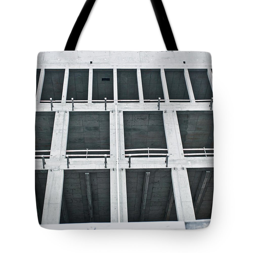 Apartment Tote Bag featuring the photograph Construction by Tom Gowanlock